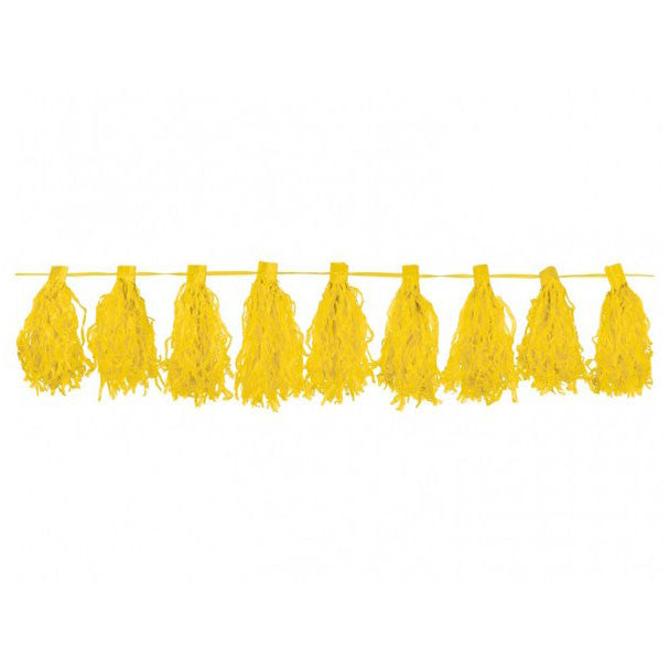 Yellow Tassel Garland 3m  Tassel Garland HelloPartyUK - Hello Party