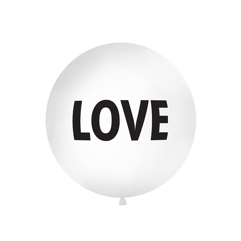 Giant Round LOVE Balloon (1 metre)  Big Round Latex Balloons Party Deco - Hello Party