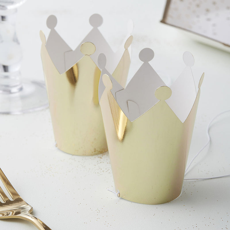 Gold Metallic Mini Party Crown  Party Hats Ginger Ray - Hello Party