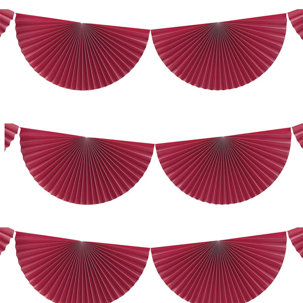 Pink Hanging Fan Decorations  Garland Ginger Ray - Hello Party