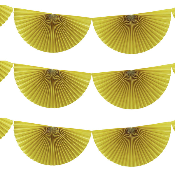 Yellow Hanging Fan Decorations  Garland Ginger Ray - Hello Party