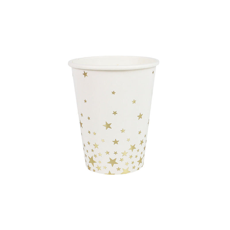 Gold Metallic Star Cups  Party Cups Ginger Ray - Hello Party
