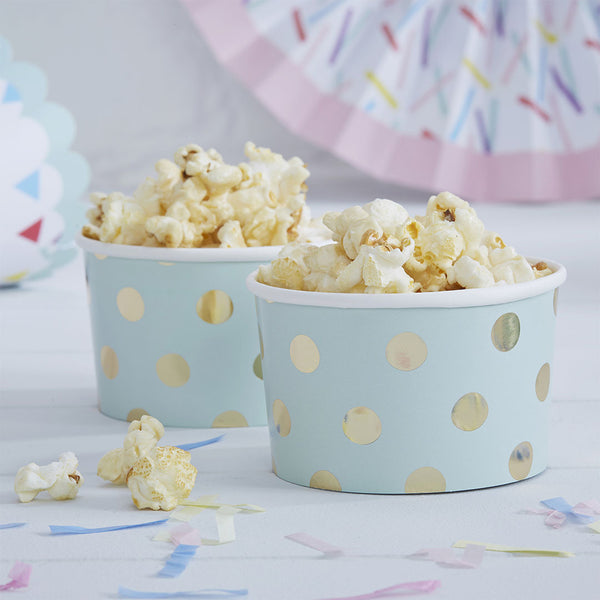 Gold Metallic Polka Dot Treat Tubs