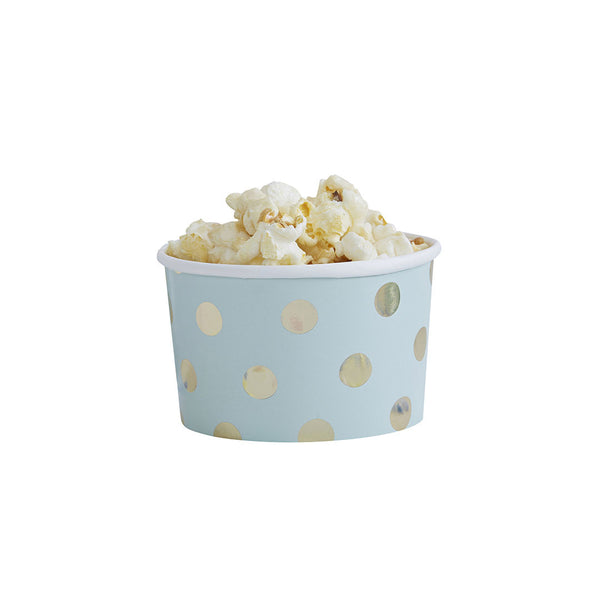 Gold Metallic Polka Dot Treat Tubs  Party Tubs Ginger Ray - Hello Party