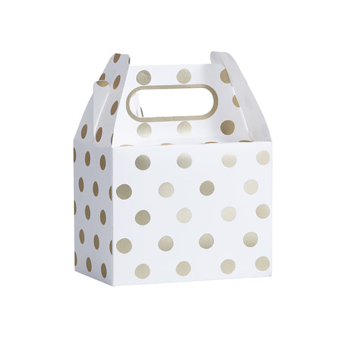 Gold Metallic Polka Dot Party Boxes
