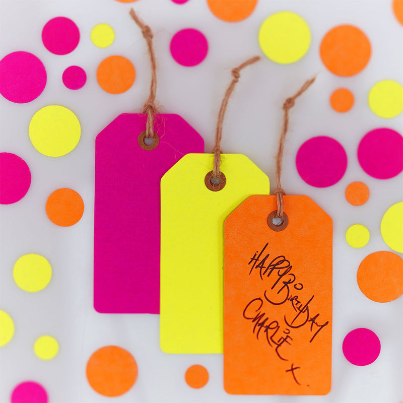 Neon Birthday Tags