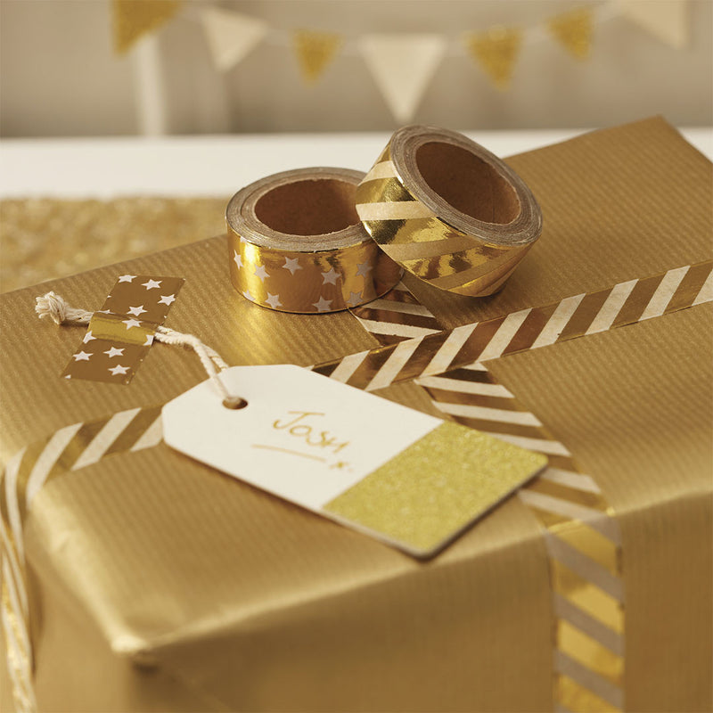 Gold Metallic Washi Tape  Washi Tape Ginger Ray - Hello Party
