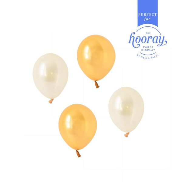 Glamorous Gold Balloons  Hooray Party Display Contents Pack