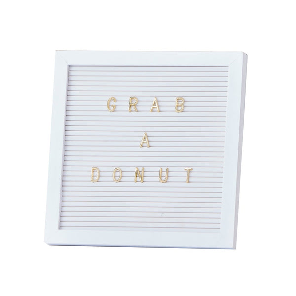 Pegboard with Gold Letters  Peg Board Ginger Ray - Hello Party