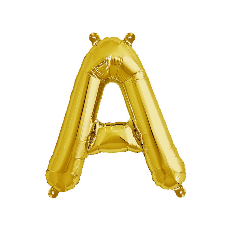 16 inch Gold Letter A Foil Balloon