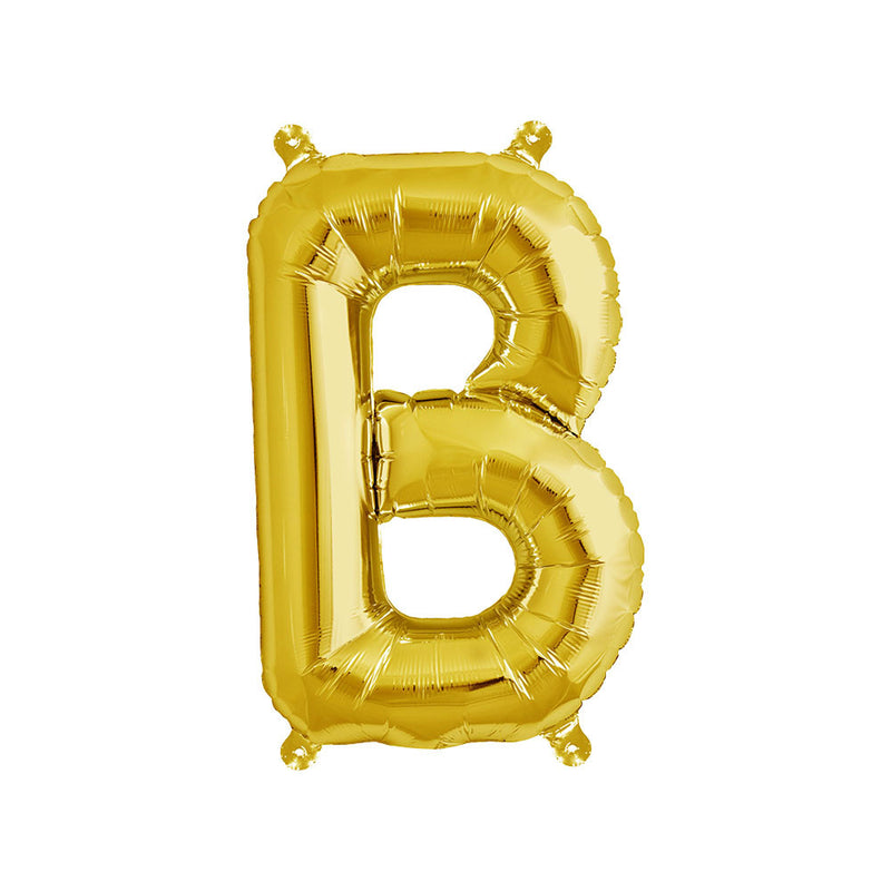 16 inch Gold Letter B Foil Balloon