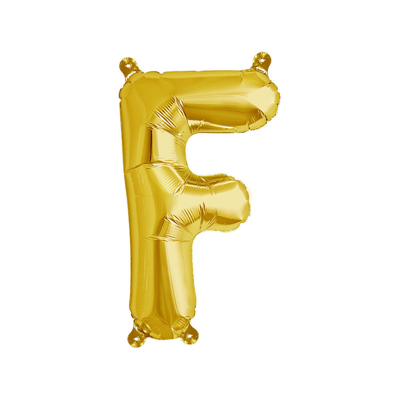 16 inch Gold Letter F Foil Balloon