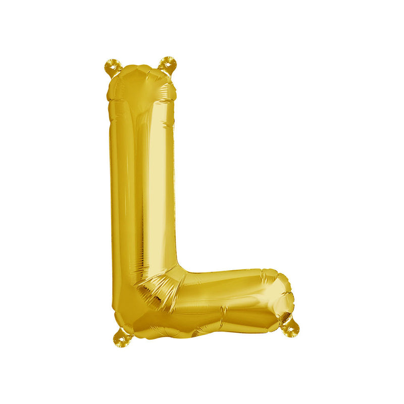 16 inch Gold Letter L Foil Balloon