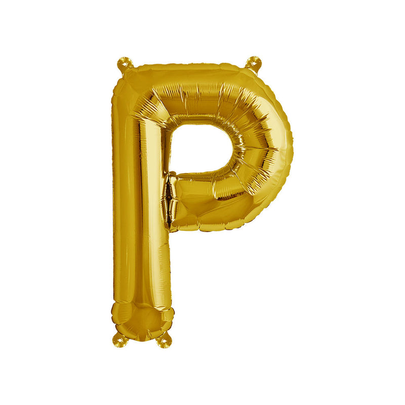 16 inch Gold Letter P Foil Balloon