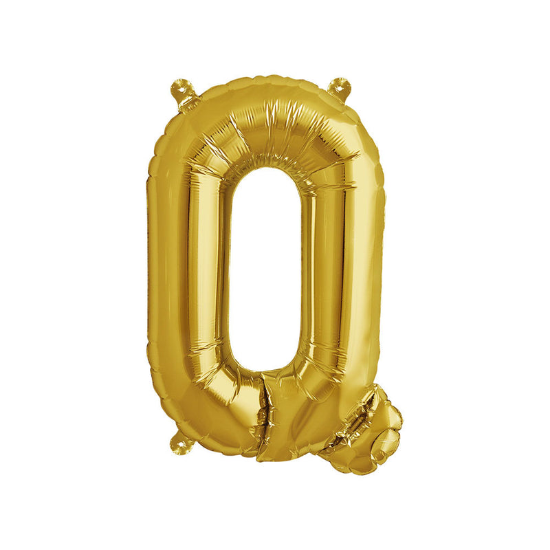 16 inch Gold Letter Q Foil Balloon