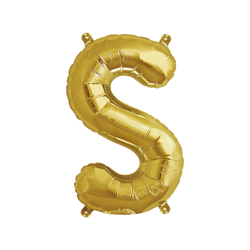 16 inch Gold Letter S Foil Balloon