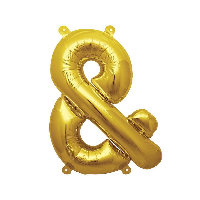 "16"" Gold Ampersand Foil Balloon"