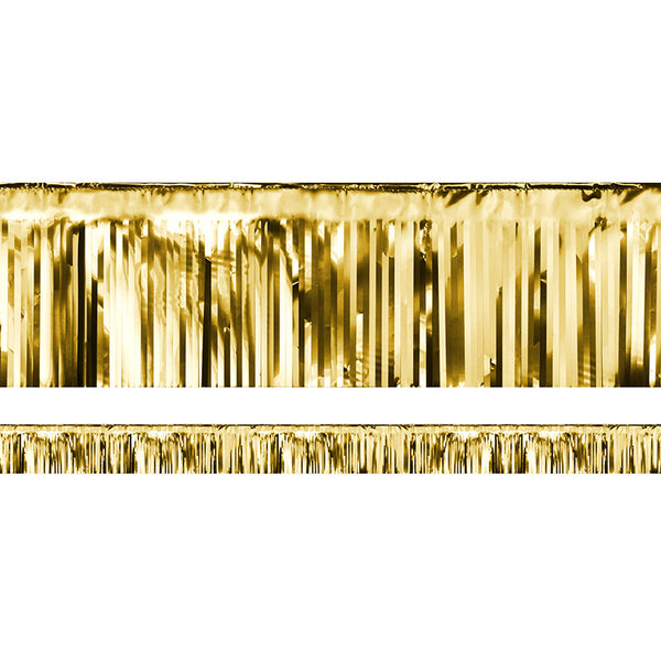 Decorative Fringe Gold Metallic Party Banner