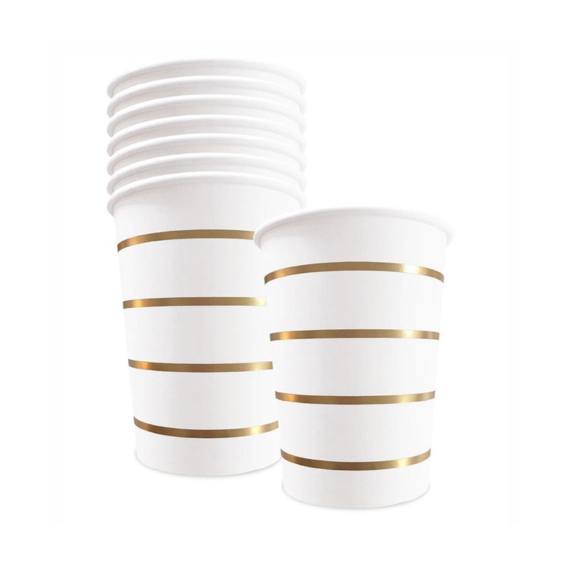 Gold Striped Cups  Party Cups Delight Department - Hello Party