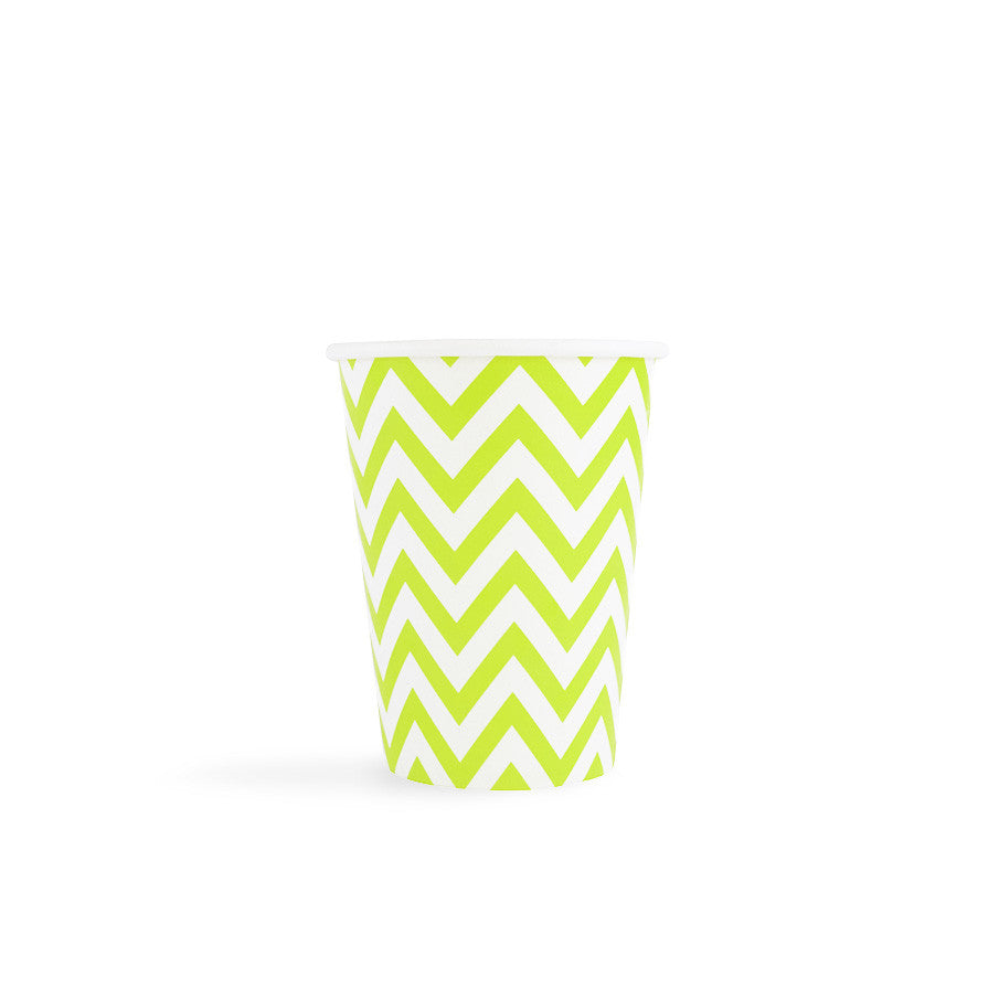 Green Chevron Cups