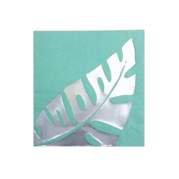 Silver Leaf Green Napkin  Napkins Delight Department - Hello Party
