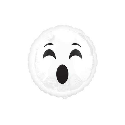 "Ghost Halloween Emoji 18"" Foil Balloon"
