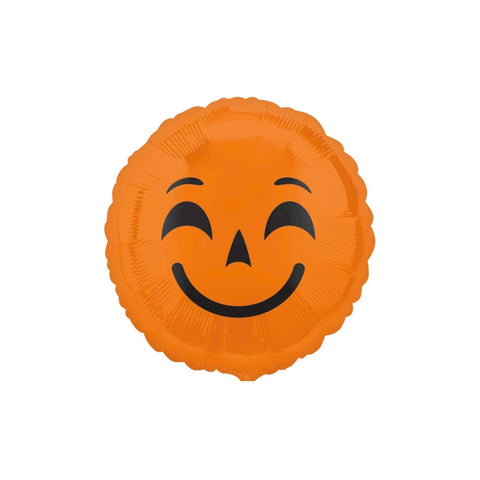 "Pumpkin Halloween Emoji 18"" Foil Balloon"