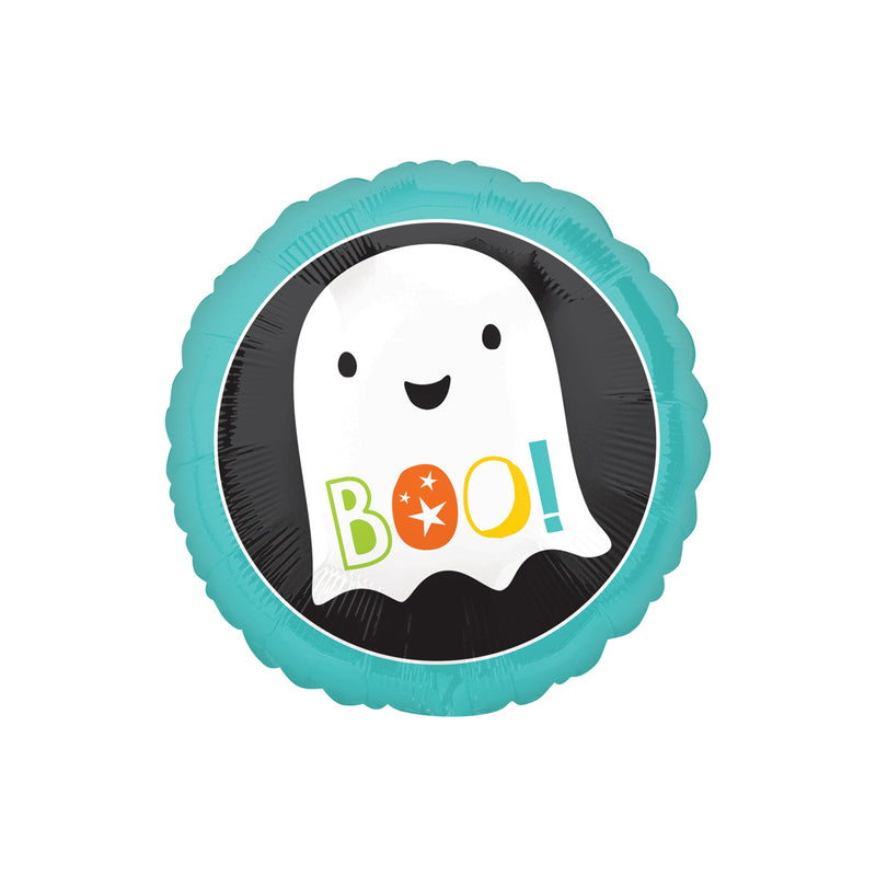 Halloween Boo Ghost Round Foil Balloon  Balloons Hello Party - All you need to make your party perfect! - Hello Party