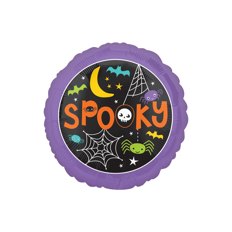 Halloween Spooky Round Foil Balloon  Balloons Hello Party - All you need to make your party perfect! - Hello Party