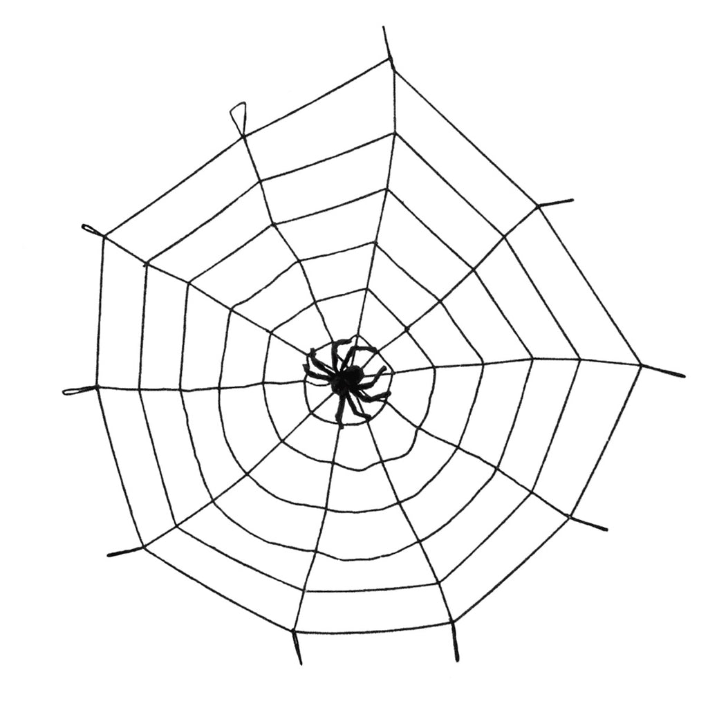 Giant Halloween Spiderweb With Spider