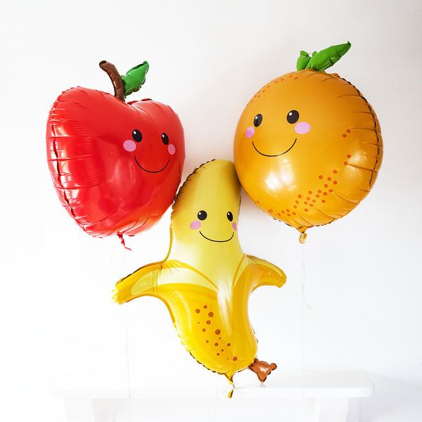 Smiley Happy Apple Large Foil Balloon  Balloons Betallic - Hello Party