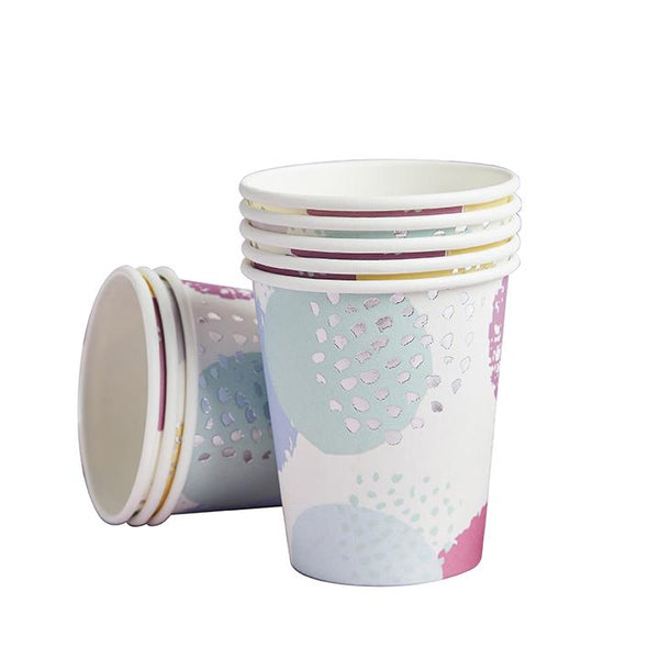 Pastel Patterned Paper Cups  | Stylish & Fun Party Tableware