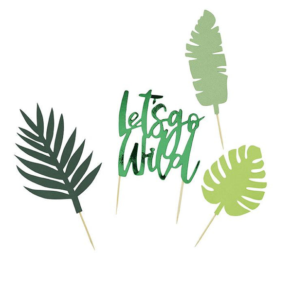 Let's Go Wild Tropical Cake Topper Set  | Hello Stylish Party Supplies