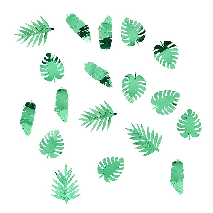 Tropical Leaf Confetti  Confetti Club Green - Hello Party