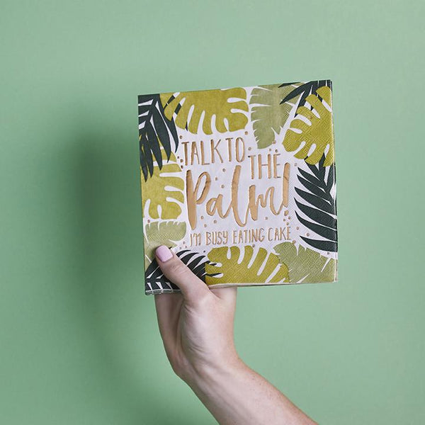 Tropical Leaf Patterned Paper Napkins  | Stylish & Fun Party Tableware