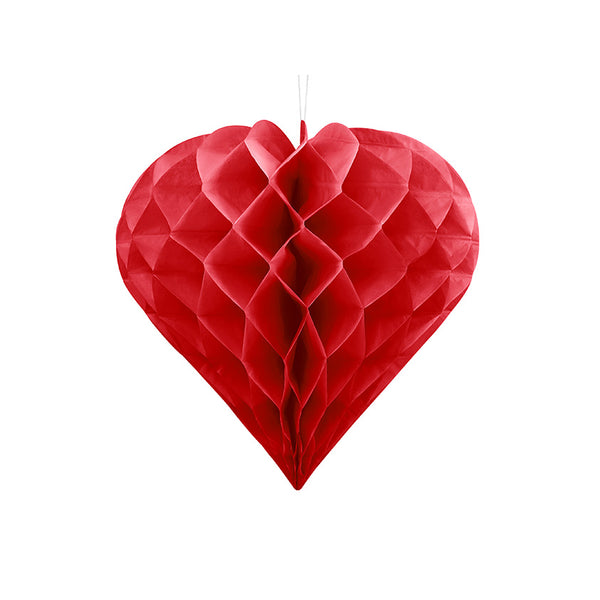 Large Heart Honeycomb - Red - Valentine Party