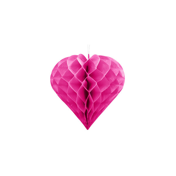 Small Heart Honeycomb - Dark Pink  Honeycomb Decorations Party Deco - Hello Party