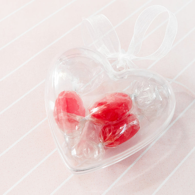 Clear Heart Party Wedding Favour Boxes