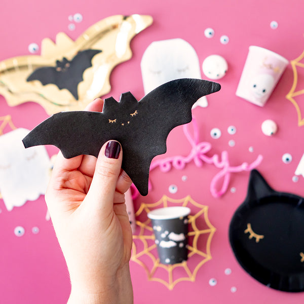 Cute Bat Shaped Paper Napkins Halloween Party Lifestyle