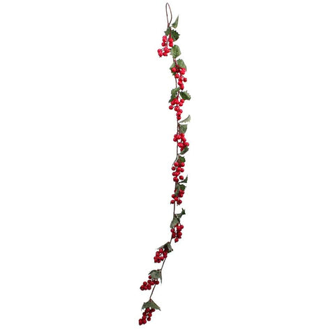 Holly and Berries Garland (3ft) Christmas Decorations