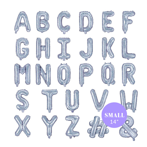"Small Holographic Letter Foil Balloons  (14"")"