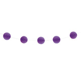 Pretty Purple Mini Honeycomb Garland