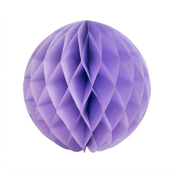 Lavender 25cm Honeycomb Ball  Honeycomb Ball Hello Party Essentials - Hello Party