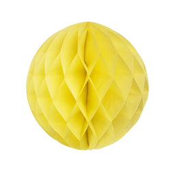 Yellow 25cm Honeycomb Ball  Honeycomb Ball Hello Party Essentials - Hello Party