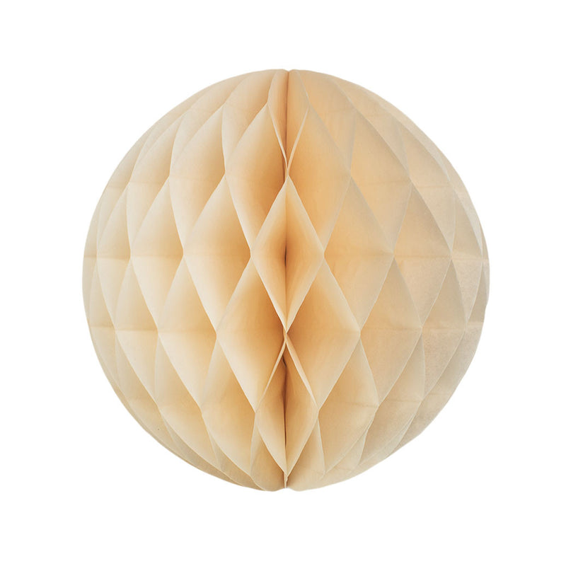 Ivory 25cm Honeycomb Ball  Honeycomb Ball Hello Party Essentials - Hello Party