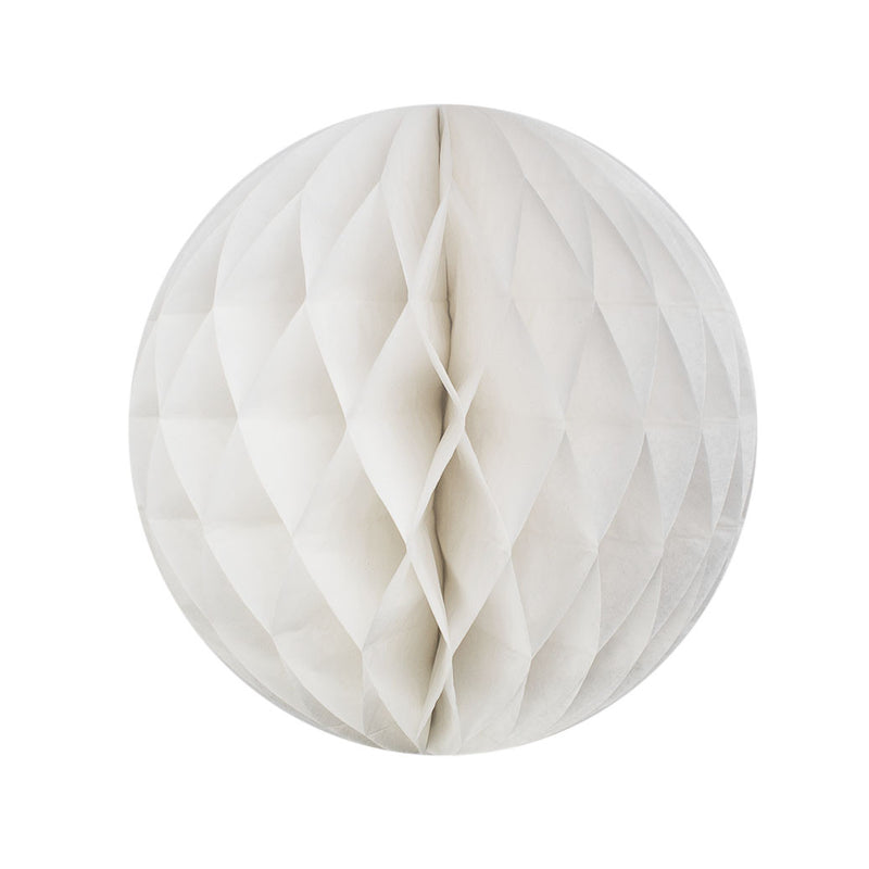 White 25cm Honeycomb Ball  Honeycomb Ball Hello Party Essentials - Hello Party