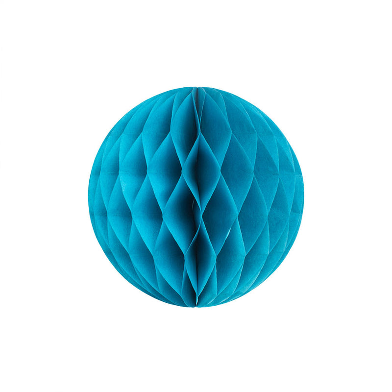 Turquoise 20cm Honeycomb Ball  Honeycomb Ball Hello Party Essentials - Hello Party