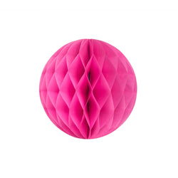 Hot Pink 20cm Honeycomb Ball  Honeycomb Ball Hello Party Essentials - Hello Party
