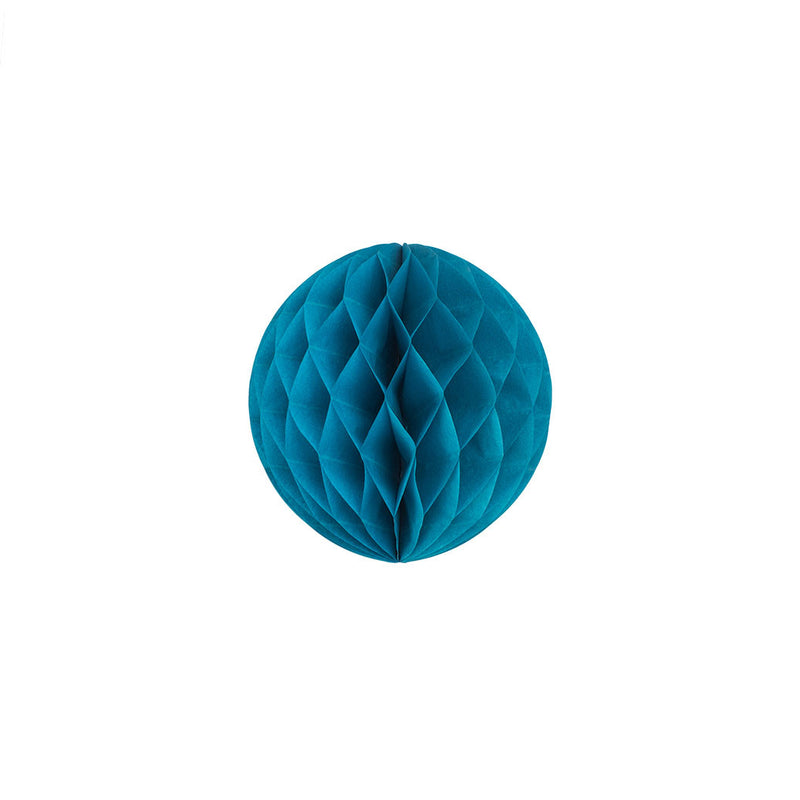 Turquoise 15cm Honeycomb Ball  Honeycomb Ball Hello Party Essentials - Hello Party