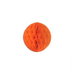 Orange 15cm Honeycomb Ball  Honeycomb Ball Hello Party Essentials - Hello Party